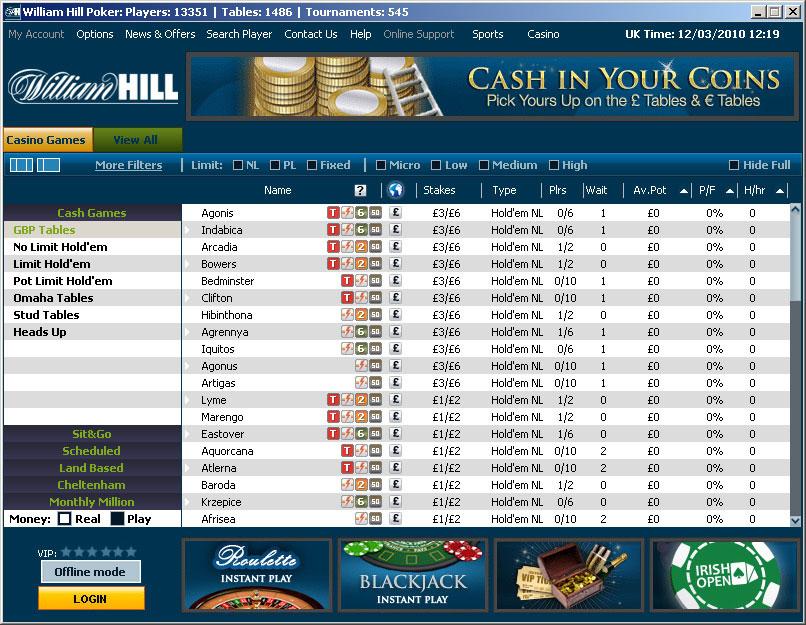 официальный сайт вильям хилл покер скачать